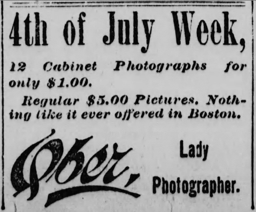 Ad for Ober, lady photographer