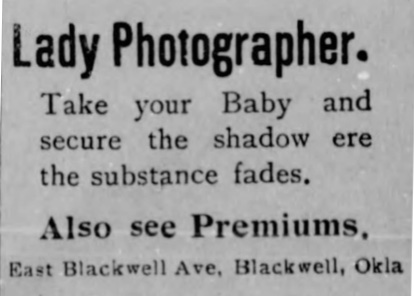 Lady Photographer ad, no name