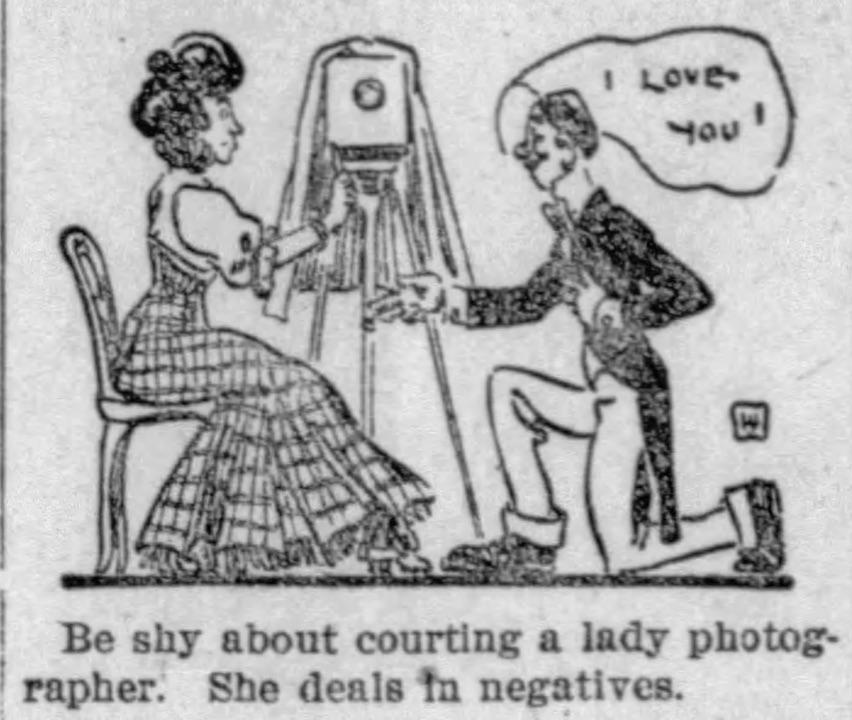 lady photographer deal in negatives joke