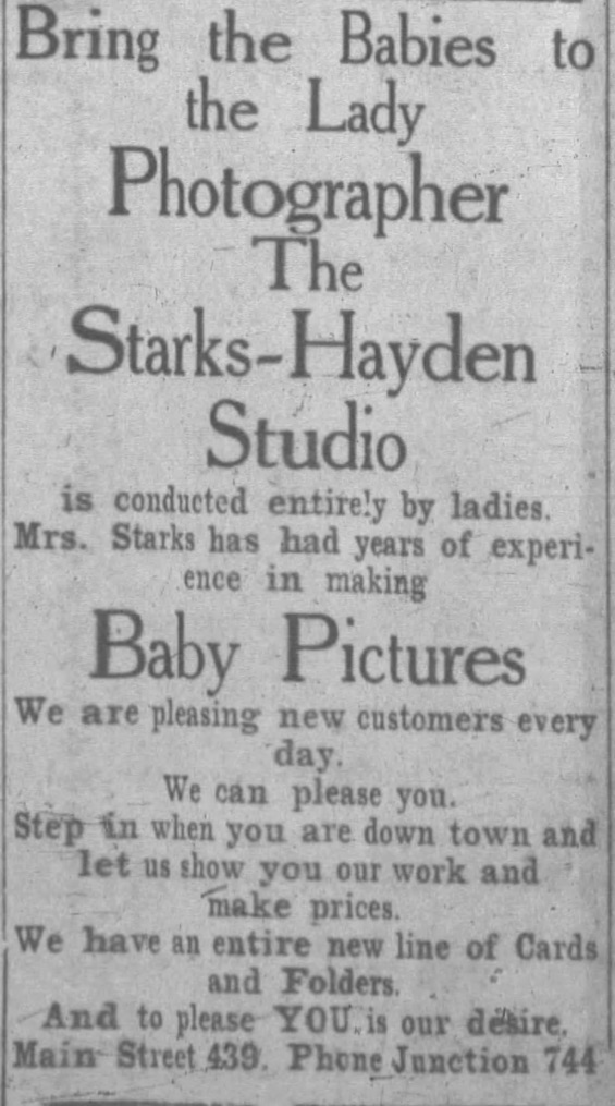 Starks Hayden studio lady photographers