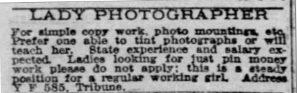 Wanted Lady photographer working girl