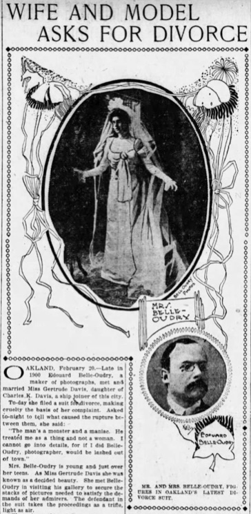 1901 Gertrude and Edouard Belle-Oudry
