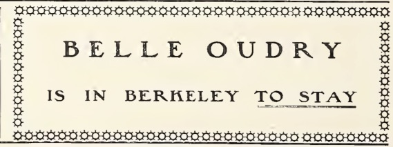 1904 ad for Belle Oudry in Berkeley