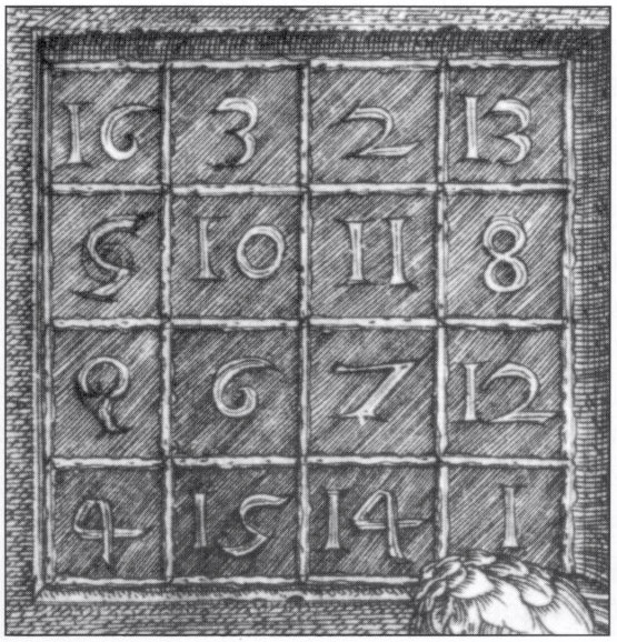 Magic square from Dürer's Melancholia
